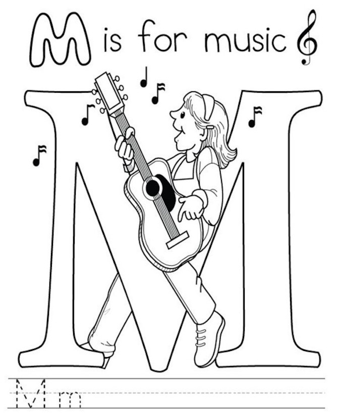 Musical Coloring Pages For Kids Free And Printable