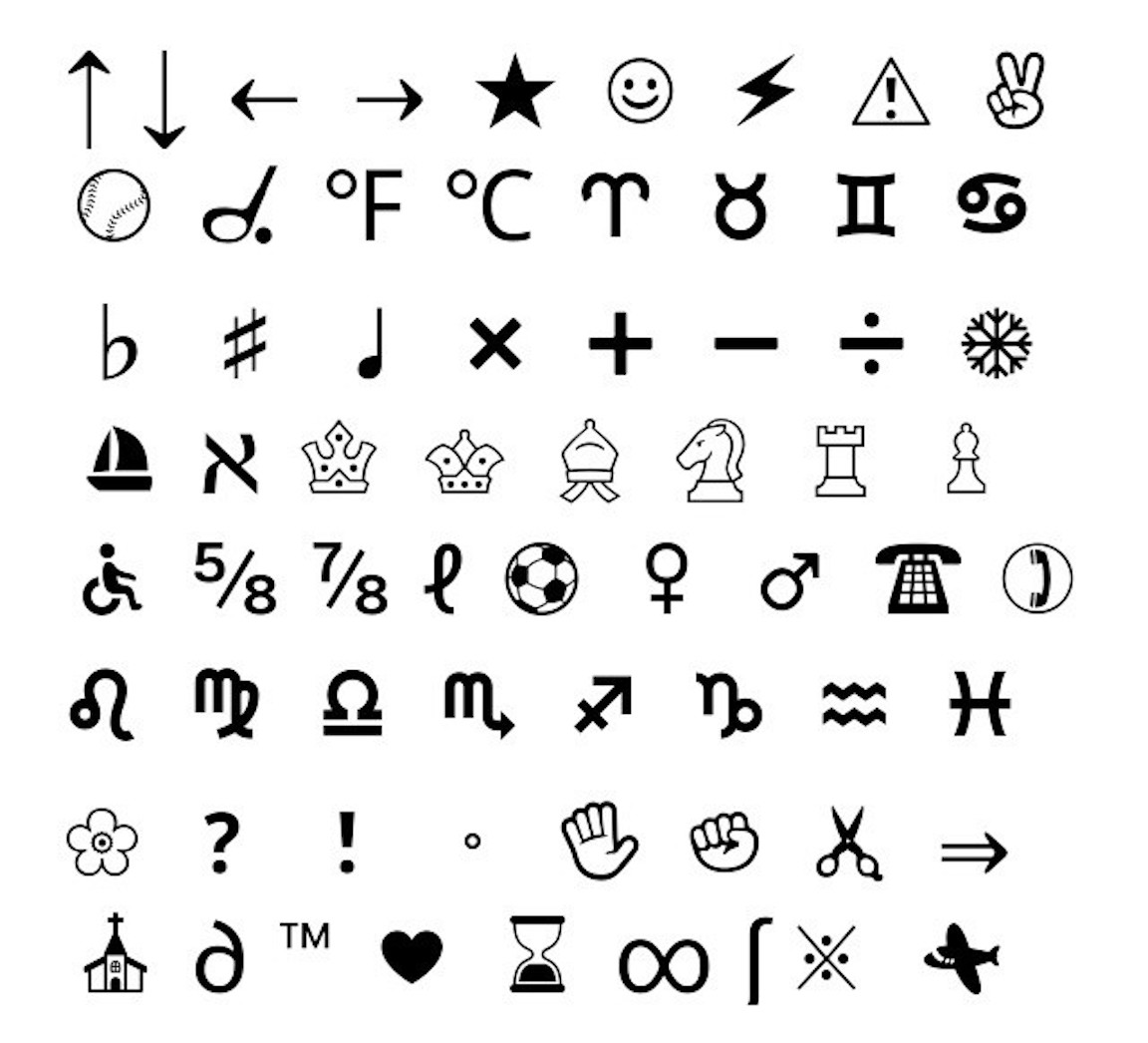 Keyboard Symbols, Clipart, And Other Free Printable Design