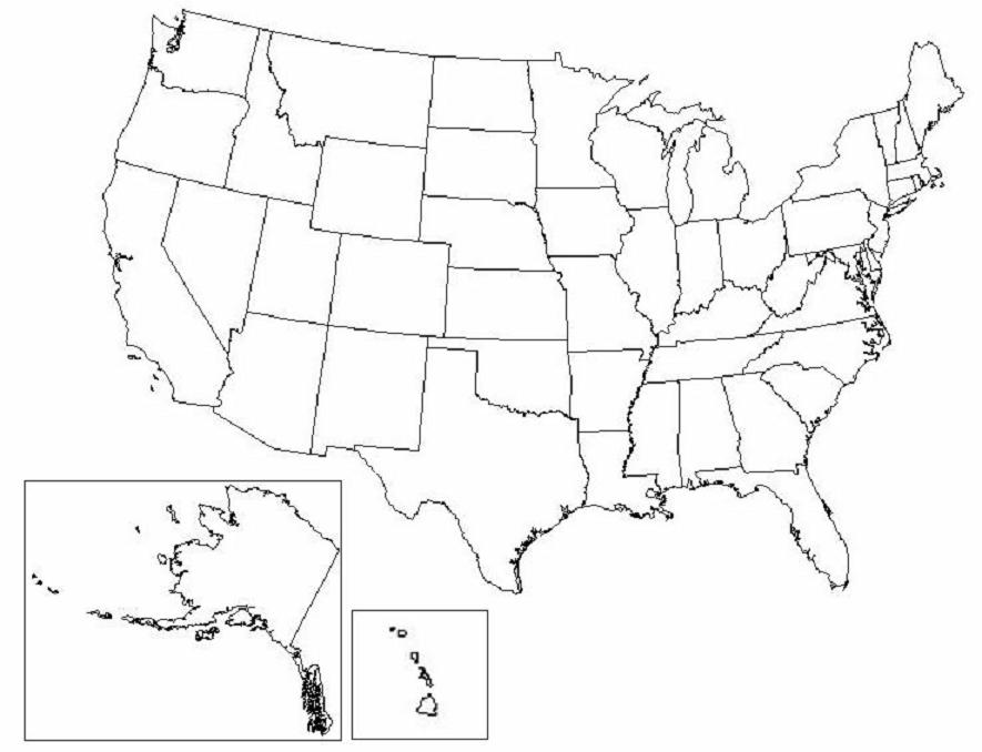Blank State Map Of America Quiz