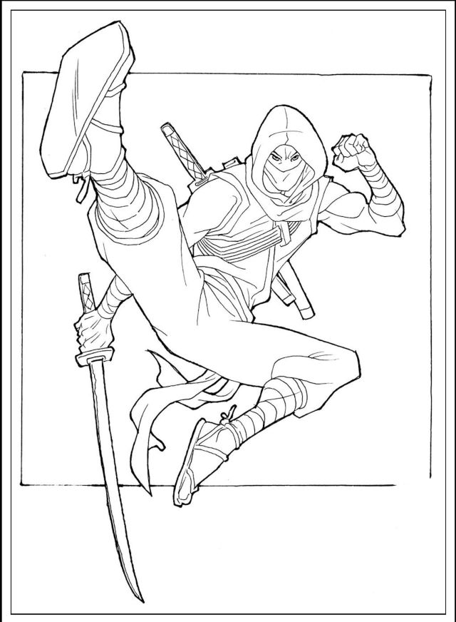 Japanese Ninja Coloring Pages And Other Top 21 Coloring Page Themes