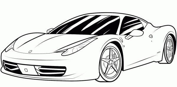 coloring page car # 6