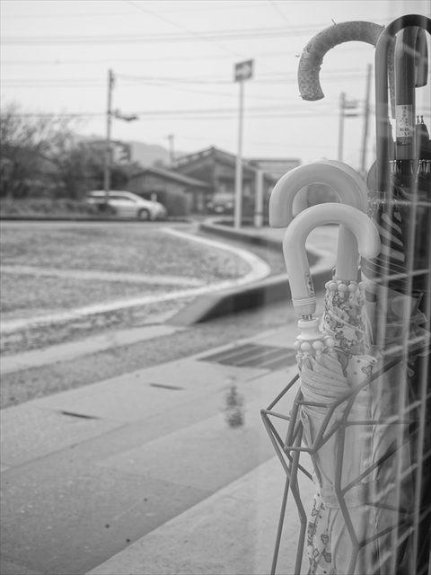 α6300 雨 モノクロ