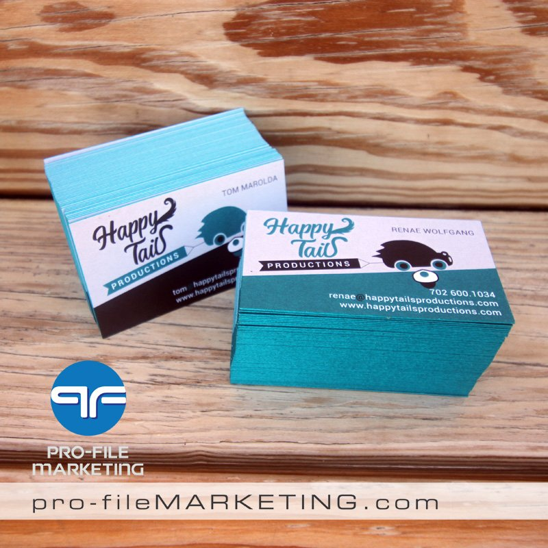 Las Vegas Painted Edge Business Cards