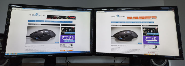 benq gl2450 test header