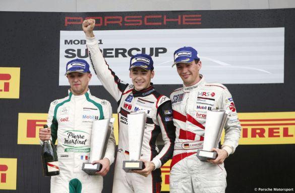 Porsche Mobil 1 Supercup Budapest 2015 Come Ledogar (F) Sven Müller (D) Christian Engelhart (D)