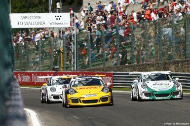 Porsche Mobil 1 Supercup Spa 2015 Matteo Cairoli (I) Come Ledogar (F) Robert Lukas (PL)