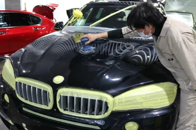BMW 磨き作業