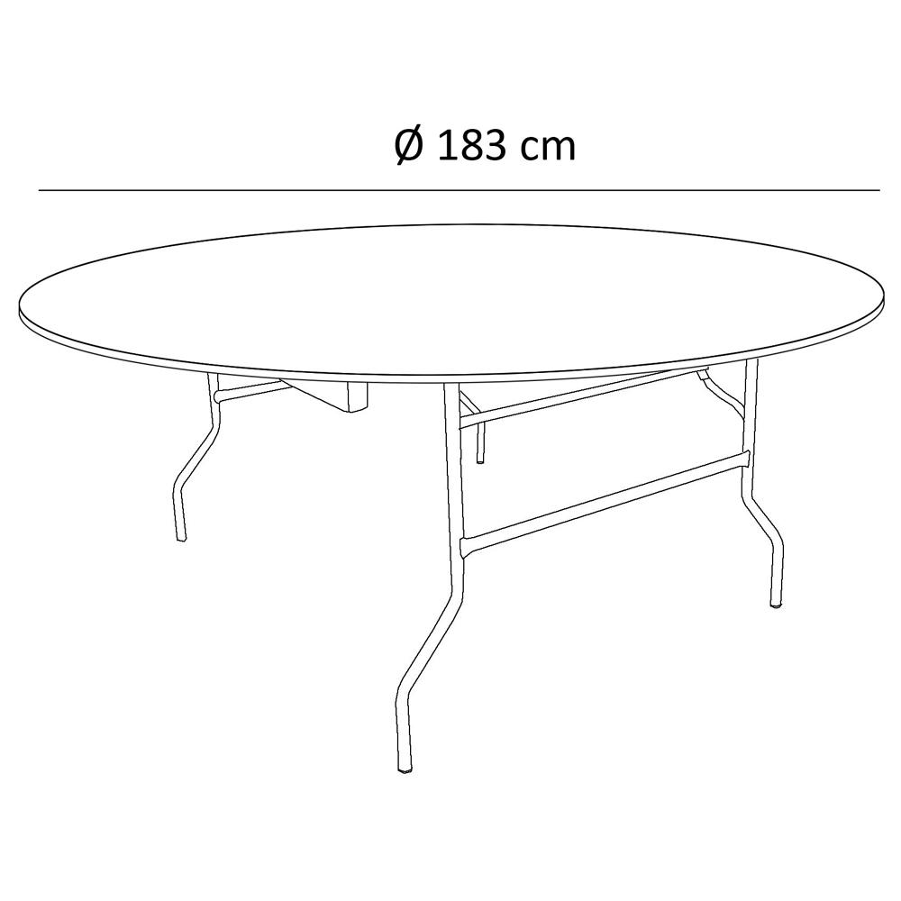 table pliante ronde traiteur dia 183cm