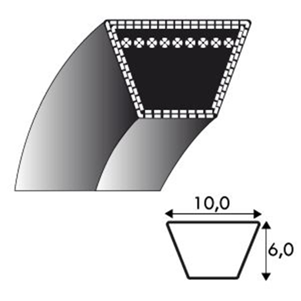 courroie tondeuse oleo mac g48 66030037 10x700 li