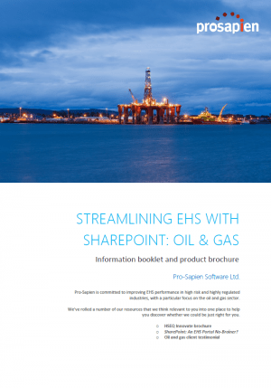 Streamlining EHS With SharePoint: Oil and Gas