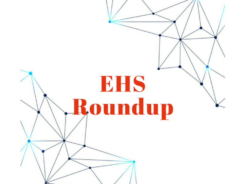 November 2018 EHS News Roundup
