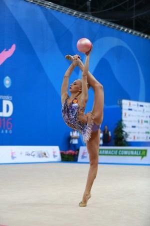 Gymnast in a balance