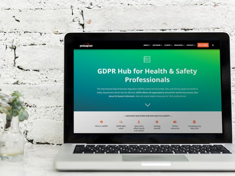 New GDPR Hub: Resources for OHS all in one place