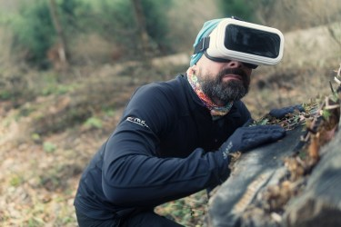 Virtual reality headsets can complement wearable safety technology.