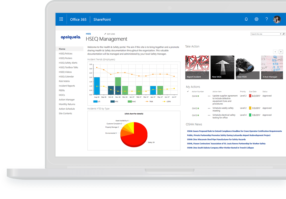EHS Management Software on Office 365