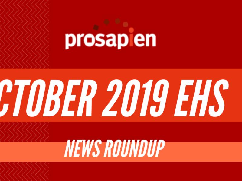 October 2019 EHS News Roundup
