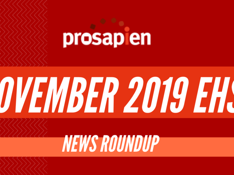 November 2019 EHS News Roundup