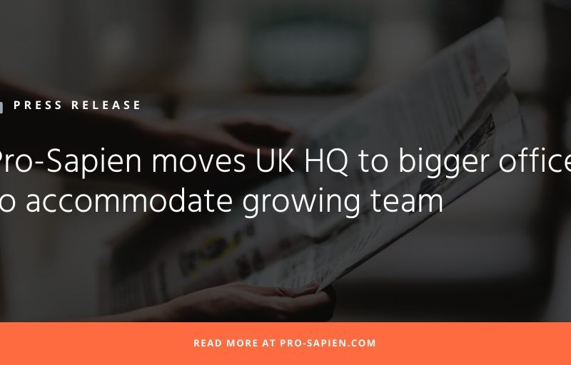 Pro-Sapien moves UK HQ to bigger office to accommodate growing team