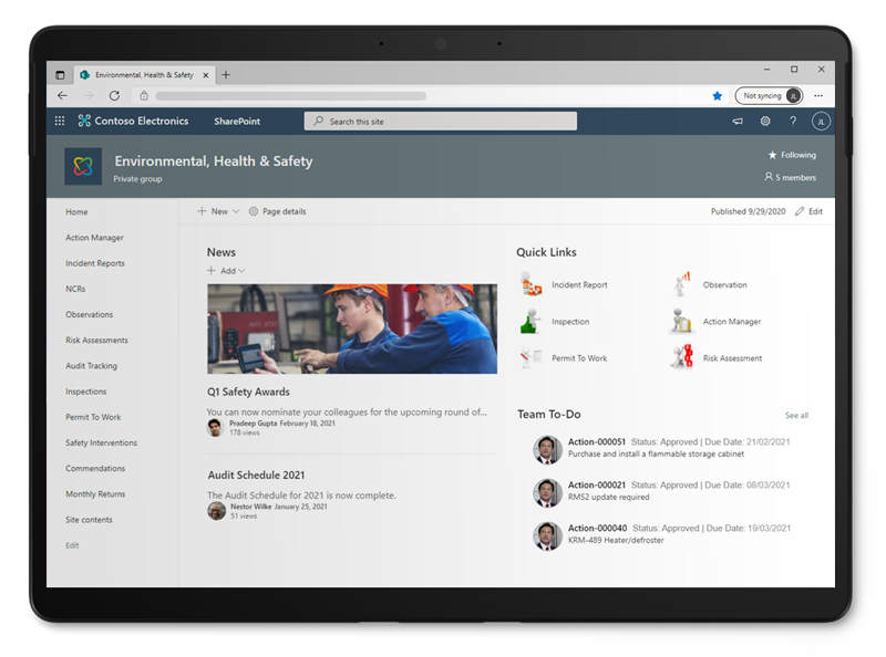 Access all things EHS Management in Office 365 with Pro-Sapien