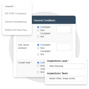 Fill out safety inspection checklist on any internet-connected device