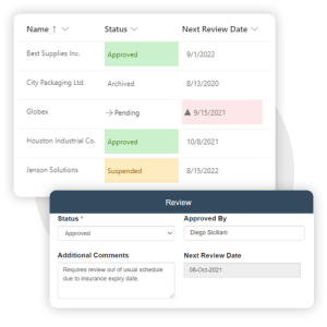 Manage approval status of contractors in Pro-Sapien