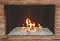 Fireplace Glass, Ceramic Gas Logs & Fire Glass, Orange ...