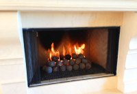 Fireplace Glass, Ceramic Gas Logs & Fire Glass, Orange ...