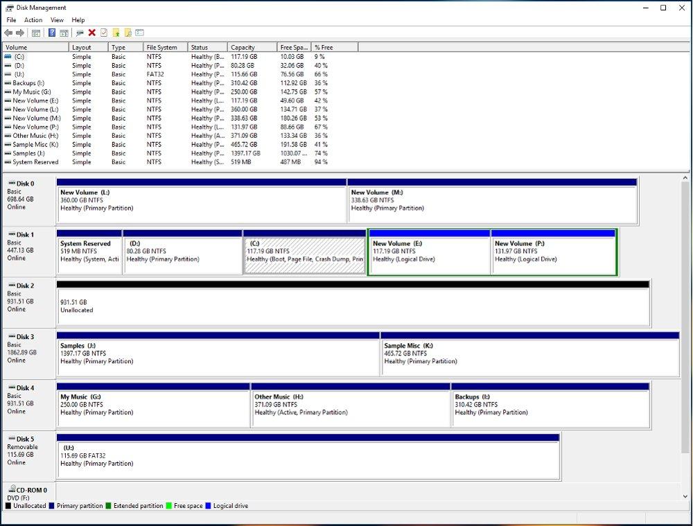 Disk Management Window