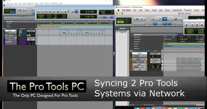 Syncing a Mac and PC Pro Tools System by Network
