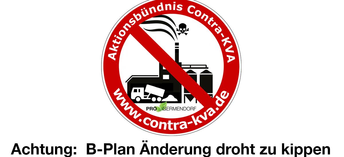 Achtung:B-Plan Änderung droht zu kippen!
