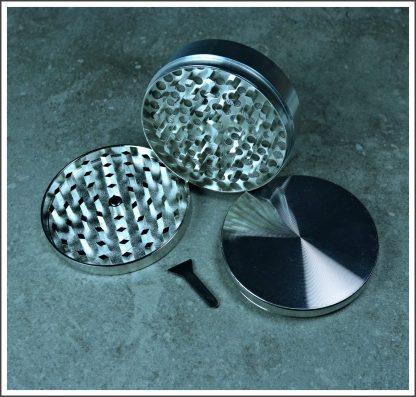 Silver Zinc Herb Grinder