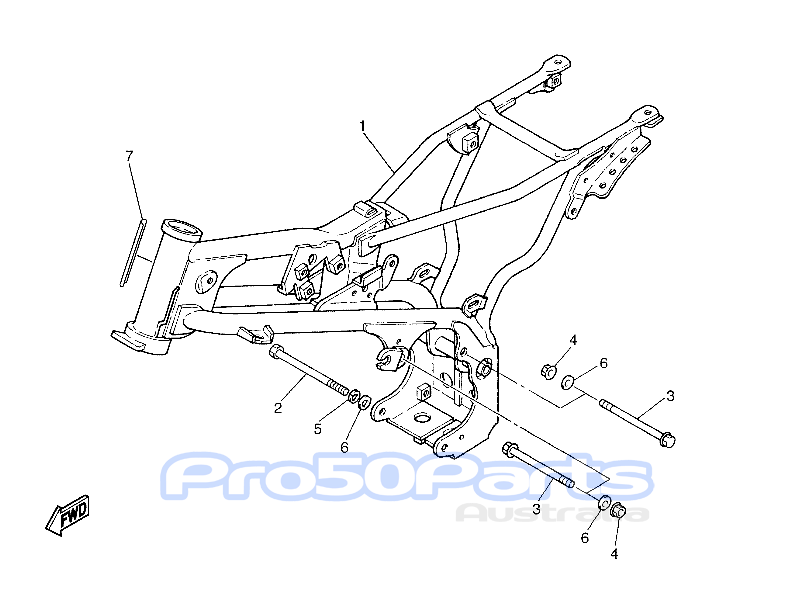 Aftermarket Parts for Yamaha For Yamaha PW80 Frame & Engine