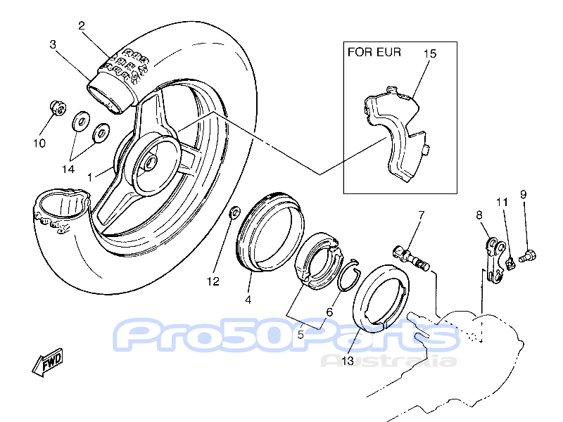 Aftermarket Parts for Yamaha For Yamaha PW50 Rear Wheel