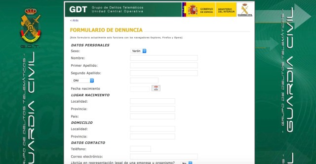 denuncia guardia civil estafa