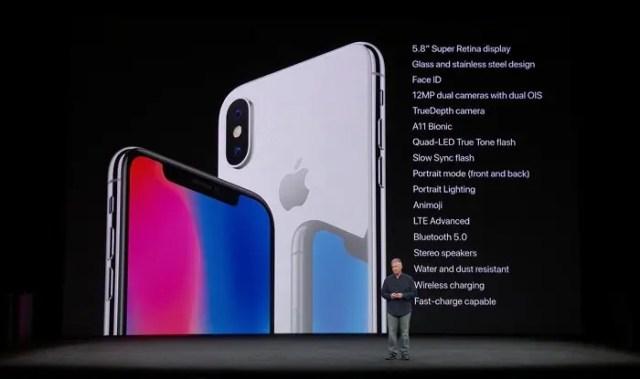 diseño del iphone x