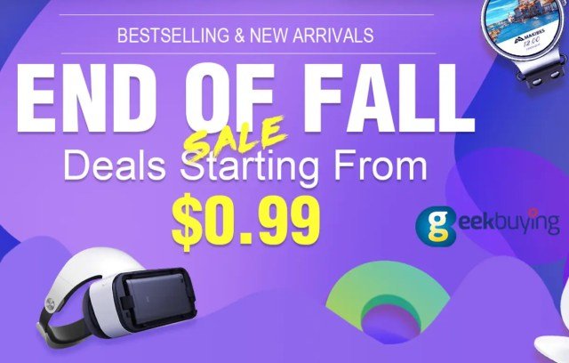 end of fall promocion geekbuying