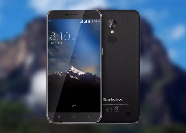 frontal y trasera blackview a10