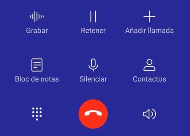 grabación de llamadas EMUI 9