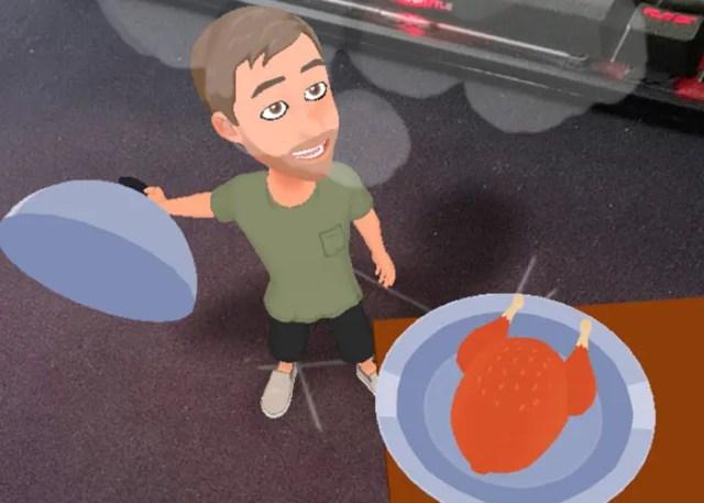Bitmoji 3D en Snapchat
