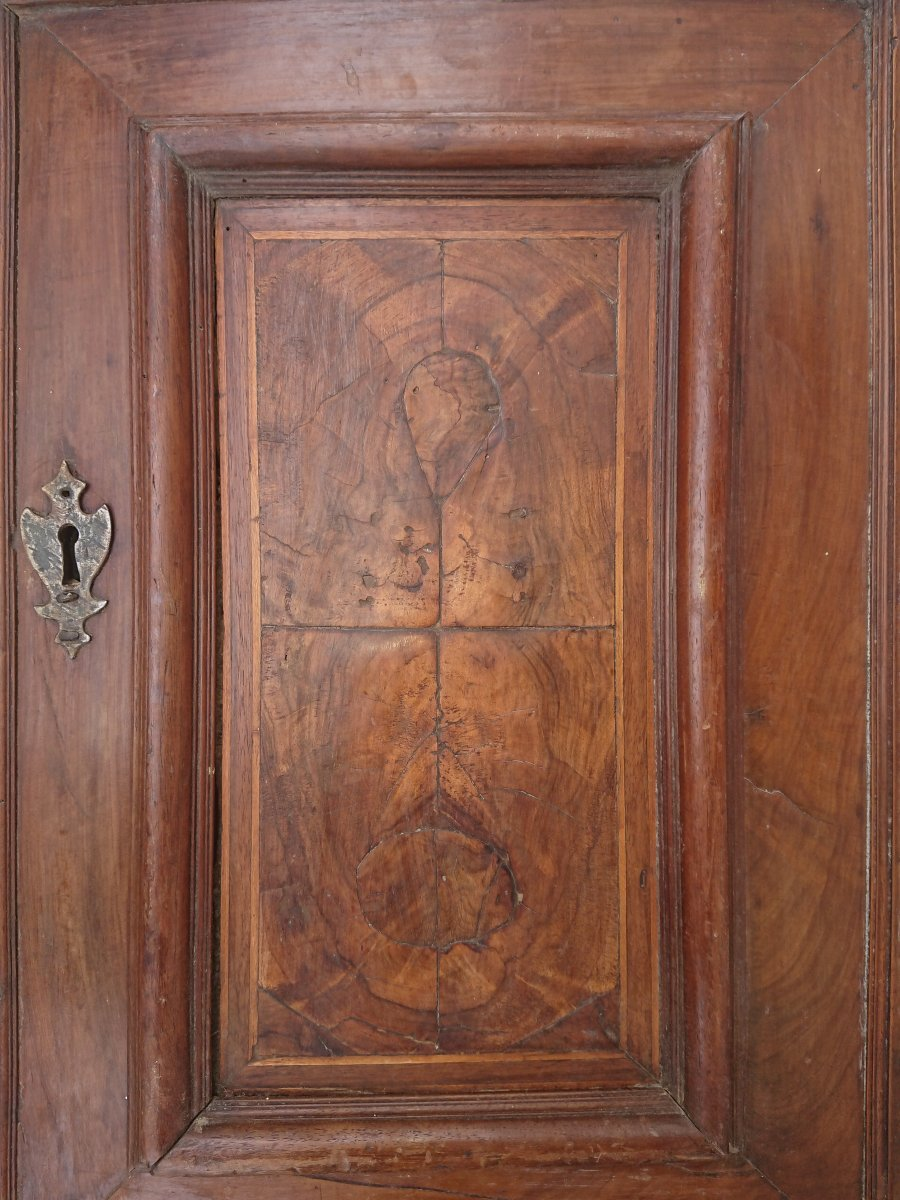 Small Door Walnut Wood Root Seventeenth Century Woodwork