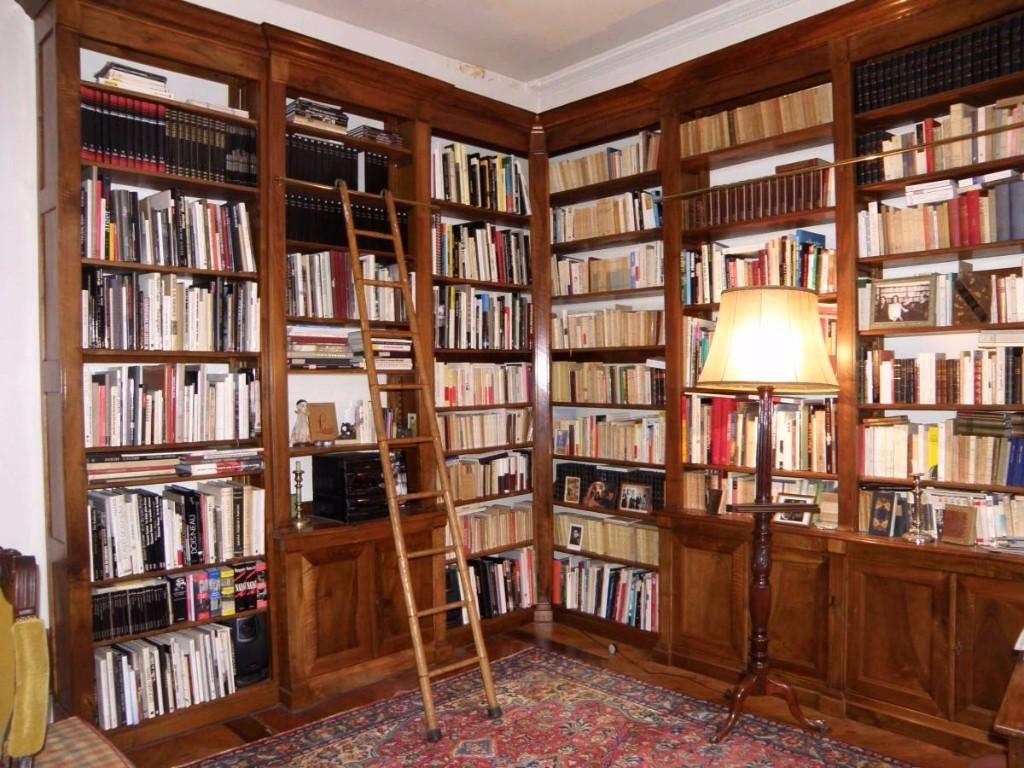 Bibliothque D Angle De Boiserie XIX Bibliothques