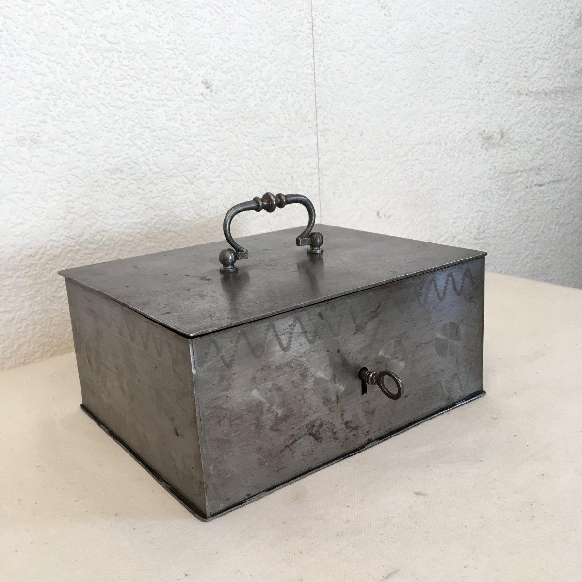 petite caisse en fer coffret a cle 19