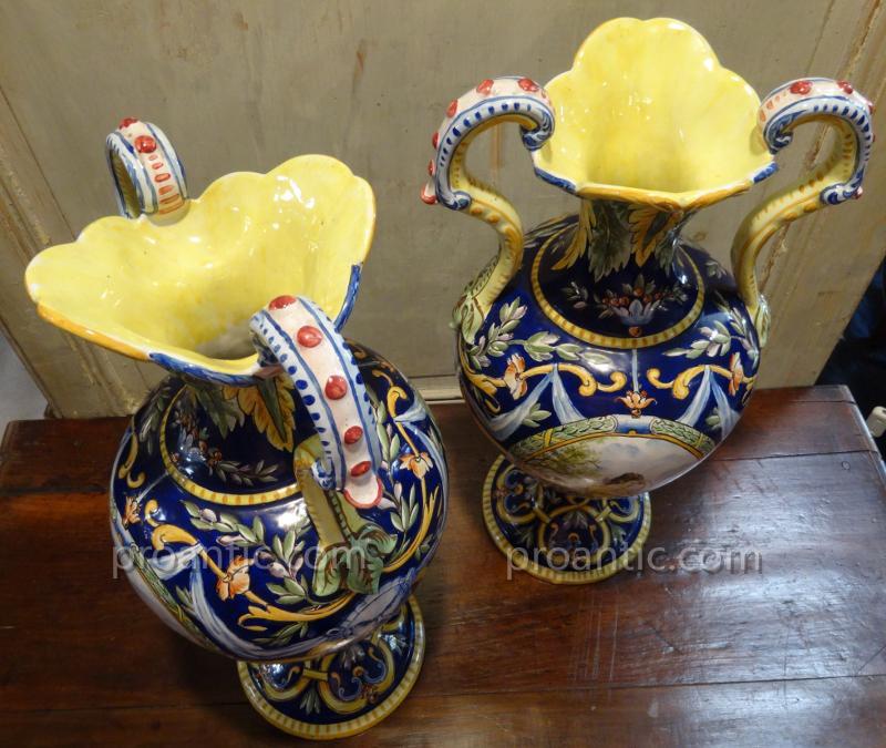 Prix Faience Renoleau Latest Faience Vase Birds Flowers