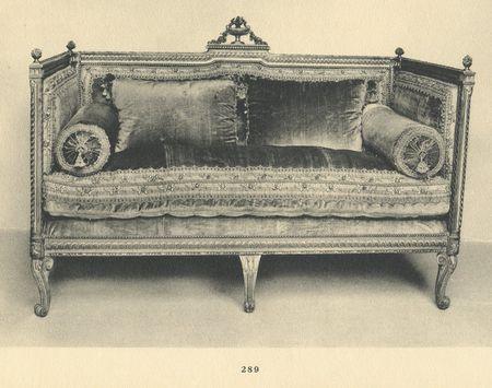 Canapé d alcôve, collection Jacques Doucet
