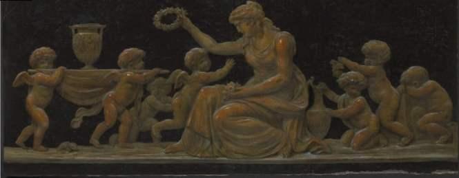trompe l'oeil, Scène à l'antique Piat Joseph Sauvage