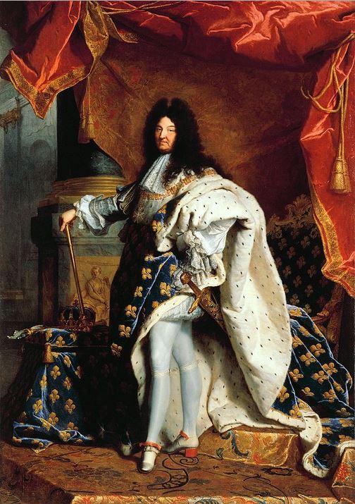 Louis XIV en costume de sacre. Hyacinthe Rigaud