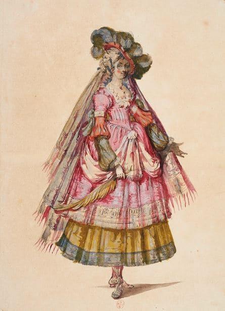 Jacques Bellange (?, vers 1595- ?, 1616)La Pucelle à la palme, 1600-1606Chantilly, musée Condé © RMN Domaine de Chantilly/ Thierry Ollivier