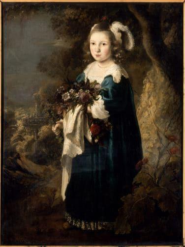 FLINCK Govert, Portrait d'une fillette en Flore, Huile sur toile  © RMN -Photographie : G. BLOT