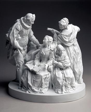 La Mandoline ou La Conversation espagnole, Jean-François Duret, 1772. Collection Sèvres - Cité de la céramique,