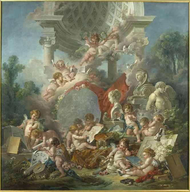 """François Boucher, Les Génies des Arts"""", 1761"""